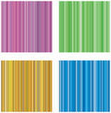 Four retro vector backgrounds with stripes Stock Photography