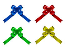 Four ribbons for celebration Royalty Free Stock Photos
