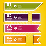 Four ribbons of infographics for your design Royalty Free Stock Photos