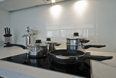 Four ring electric hob Royalty Free Stock Images