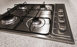 Four ring gas hob Stock Images