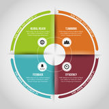 Four Ring Loops Infographic Royalty Free Stock Photography