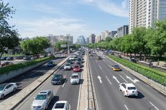Crossroads traffic of beijing stock photos
