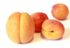 Four ripe and juicy apricot Royalty Free Stock Image
