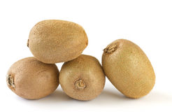 Four ripe kiwi fruit Stock Images
