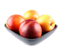 Four ripe peaches Royalty Free Stock Photos