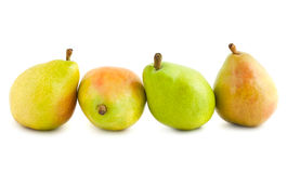 Four ripe pears Stock Images