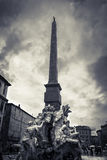 Four River Fountain in piazza Navona Rome Stock Photography