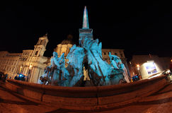 Four rivers Fountain in Rome Stock Photo