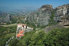 Four rock monasteries at Meteora,Greece stock photography
