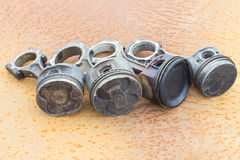 Four rods and pistons Stock Photo