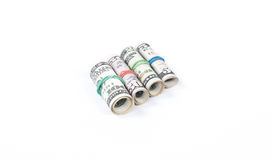four rolls of money Royalty Free Stock Photos