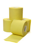 Four rolls of toilet paper. On white background Royalty Free Stock Image