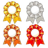 Four rosettes Royalty Free Stock Photography