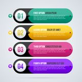 Four round banners in glossy hi-tech style. On white background Stock Images