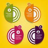 Four round element for infographic Royalty Free Stock Image