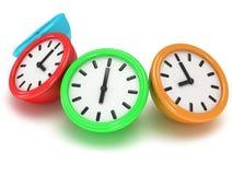 Four Round office clocks Stock Image