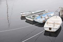 Four Row Boats in Rockport Maine Royalty Free Stock Photo