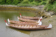 Four rowboats in False Greek,Vancouver, Canada Stock Photo