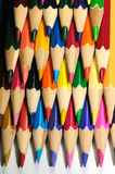 Four rows of colorful pencils Royalty Free Stock Photo