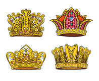 Four Royal crown Stock Photography