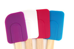 Four rubber spatulas Stock Image