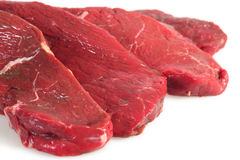 Four rump steaks, close-up Stock Photography