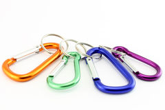 Four safety hooks Stock Photo