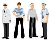 Four sailors set Stock Photo