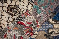 Batik. Four sample modern batik fabric pattern royalty free stock photo