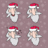 Four Santa Claus heads Stock Photography