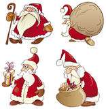 Four santas Stock Image