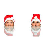 Four Santas Royalty Free Stock Photography