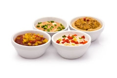 Four Sauces Royalty Free Stock Photography