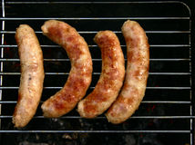 Four sausages Royalty Free Stock Image