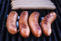 Four sausages Royalty Free Stock Photography