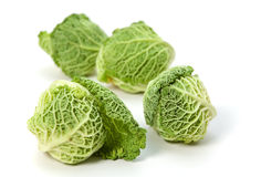 Four savoy cabbages Royalty Free Stock Images