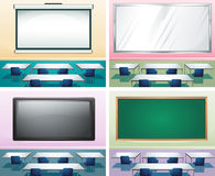 Four scenes of classrooms Stock Photography