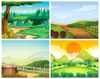 Four scenes of countryside Royalty Free Stock Photography