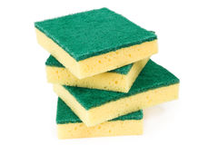 Four scouring sponges Royalty Free Stock Image