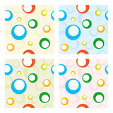 Four seamless baby patterns Royalty Free Stock Photos
