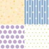 Four seamless background Stock Photos