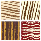 Four seamless background pattern Stock Photos