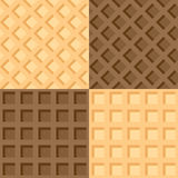 Four seamless background wafers Royalty Free Stock Image