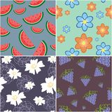 Four seamless backgrounds Royalty Free Stock Image