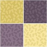 Four seamless backgrounds with ice cream Royalty Free Stock Image