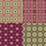 Four seamless floral textures Stock Photo