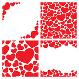 Four seamless heart backgrounds Royalty Free Stock Image