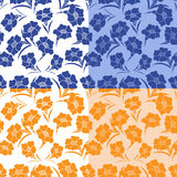 Four seamless herbal patterns Royalty Free Stock Photography