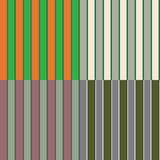 Four Seamless Irish Stripe Patterns Royalty Free Stock Image